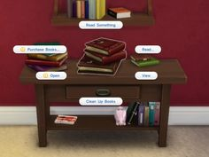 Readable Books by plasticbox at Mod The Sims via Sims 4 Updates