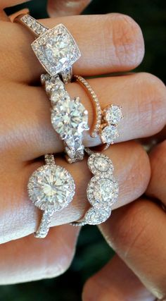 Forever stylish. Forevermark diamond rings are your brightest accessory.  Photo credit: Gem Gossip