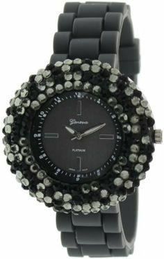 Geneva Platinum Women's 2105.Gray.Black Black Rubber Quartz Watch with Black Dial Geneva. $22.38. 10 Meters / 30 Feet / 1 ATM Water Resistant. Quartz Movement. Mineral Crystal. 36mm Case Diameter