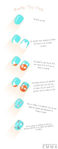 Rusty the fox nail polish tutorial