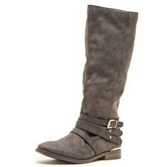 Distressed Buckle Boots- Black - BubbaJane's Boutique