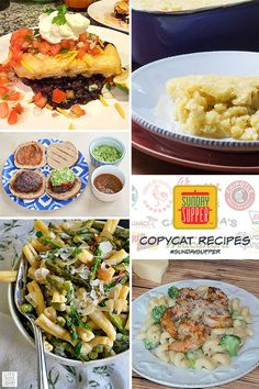 Copycat Recipes: Super tasters have re-created some of your favorite restaurant menu items in this week's menu. From appetizers to main dishes, these 25+ recipes will sure dress up your dinner table!  #SundaySupper