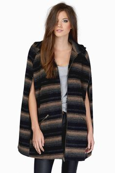 Looking for the Runway Rebel Black & Taupe Striped Wool Coat?   Find Womens Coats and more at Tobi! - 50% Off Your First Order - Fast & Free Shipping For All Orders!