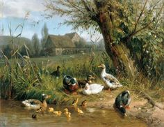 <b>Ducks</b> with Chicks at <b>the Water</b> - Cross stitch pattern pdf format