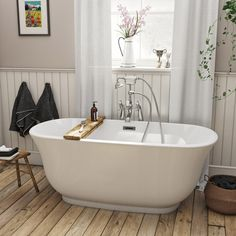 The Bath Co. Camberley pearl coloured traditional freestanding bath 1500 x 720 Traditional Bathtubs, Traditional Bathroom, Contemporary Living Room Furniture, Contemporary Bathrooms, Rustic Furniture, Industrial Furniture, Outdoor Furniture, Furniture Vintage, Modern Furniture