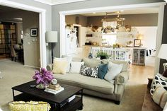 Framing in a threshold can make a room seem so much more put together!