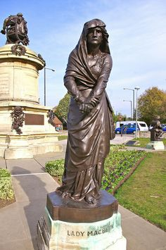 Photograph by Dave Hamster, via Flickr  -- Lady Macbeth in Bancroft Gardens,; Stratford-upon-Avon, Warwickshire