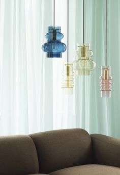 A soft pop of color for quiet workplace corners. Normann Copenhagen Balloon Lamps add a warm glow to any office space. Large Balloons, I Love Lamp, Pendant Lamp, Decoration, Lighting Design, Bunt, Interior Decorating, Decorating Ideas, Interior Design
