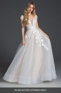 Women's Blush By Hayley Paige Theo Tulle Ballgown Wedding Dress, Size IN STORE ONLY - Ivory dresses blush ballgown Blush by Hayley Paige Theo Tulle Ballgown Wedding Dress Hayley Paige Bridal, Blush By Hayley Paige, Hayley Paige Wedding Dresses, Farm Wedding Dresses, Wedding Dress Sizes, Blush Bridal, Bridal Gowns, Tulle Ball Gown, Ball Gowns
