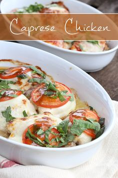 Easy Caprese Chicken Shared on http://www.facebook.com/LowCarbZen/