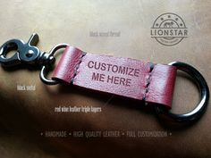 008 LIONSTARS Leather Keychain man gift husband by THELIONSTARS