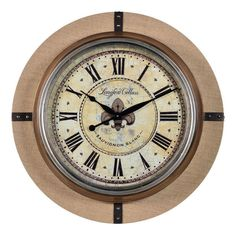 Imax home 68171 world map suitcase clock home decor clocks desk cooper classics 41039 otis 30 x 30 wall clock burlap home decor clocks wall gumiabroncs Choice Image
