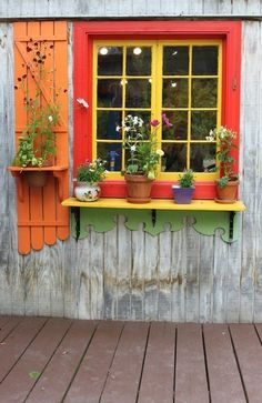 A brightly colored little cottage  ❥Teresa Restegui http://www.pinterest.com/teretegui/ ❥