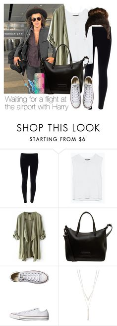 """Waiting for a flight at the airport with Harry"" by style-with-one-direction ❤ liked on Polyvore featuring Marc by Marc Jacobs, Converse, Casetify, OneDirection, harrystyles, 1d and lucluc"