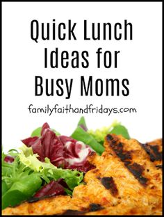 Family, Faith, and Fridays: Quick Lunch Ideas for Busy Moms Supper Recipes, Easy Dinner Recipes, Easy Meals, Easy Meal Plans, Kid Friendly Meals, Lunch Ideas, Meal Planning, Homeschool, Cooking Recipes