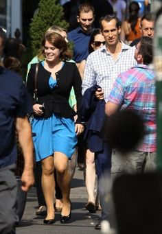 Princess Eugenie of York goes out to lunch with some friends from work East Village, NYC, 04.10.13