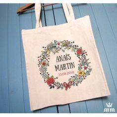 Tote Bag mariage Bouquet champêtre