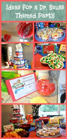 Dr. Seuss Baby Shower and Party Ideas.