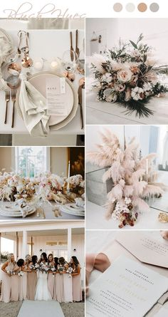 7 chic and romantic blush pink modern wedding colors .- 7 schicke und romantische erröten rosa moderne Hochzeits-Farbideen 7 chic and romantic blush pink modern wedding color ideas – ideas - Neutral Wedding Colors, Wedding Color Schemes, Boho Wedding, Dream Wedding, Wedding White, Wedding Gowns, Wedding Blush, Wedding Reception, Boho Bride