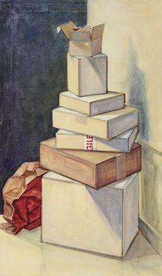 """""""Una pila di niente"""" 2008, olio su tela di lino, 120 x 70"""