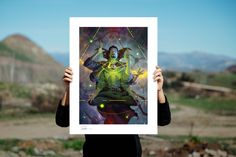 Doctor Strange Fine Art Print by Sideshow | Sideshow Fine Art Prints Eye Of Agamotto, Embossed Seal, Artist Signatures, Sideshow Collectibles, Doctor Strange, Marvel Art, Blue Accents, Floating Frame, The Conjuring