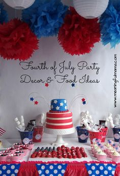 fourth of july party decorations food ideas