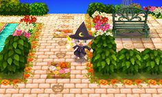 Halloween Path and Pattern Animal Crossing New Leaf Qr Code