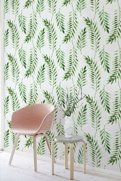 Fern leaves wallpaper Leaves pattern Tropical wall mural