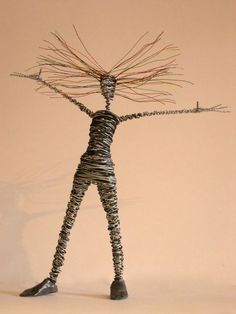 wire sculptures of people - Google Search