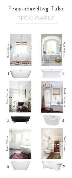 6 Options for Free-standing Tubs   BECKI OWENS   Bloglovin'