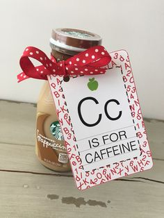 We love our teachers! So show them some love with our Cc is for Caffeine Tags. Just tie your tag onto their favorite caffeinated beverage or gift card and your gift will be an instant hit. Once you checkout your file will be instantly ready for you to download and print as many times as you would like. There are 5 cards per page. Just print off your tags, and assemble and your sweet little gift is ready to go. *********************************************************** Need a different color…