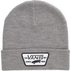Vans Milford Beanie ($20) ❤ liked on Polyvore featuring accessories, hats, beanie, accessorize, anon things, vans beanie, beanie hats and vans hat