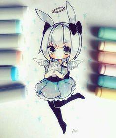Chibi little bunny girl