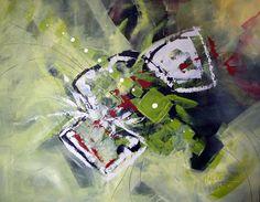 "100x80cm Acrylics - ""Battle of Ecos"""