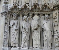 The Cathedral Basilica of Saint Denis | Basilica Cathedral of Saint-Denis: St Denis, from the west portal of ...