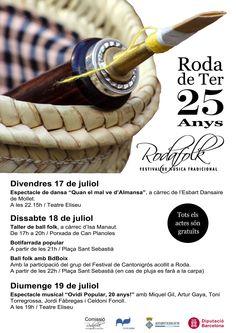 Rodafolk, 25è Festival de Música Tradicional a Roda de Ter. 17, 18 i 19 de juliol