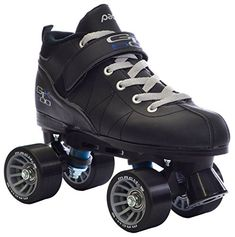 Black Pacer Mach-5 GTX500 Quad Speed Roller Skates (Mens 9 / Ladies 10)