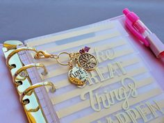 Love Is Planner Charm Gold Tone Tree of Life and by ZipsandMore