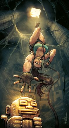 Lara Croft from Tomb Raider. Comic Books Art, Comic Art, Book Art, Art Anime, Comics Girls, Video Game Art, Fantasy Girl, Cartoon Art, Character Art