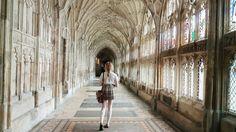 """sobforsirius: """" walking through gloucester cathedral // ig: kristinelizabeths """""""