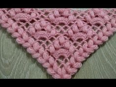 FISTIKLI BASİT ŞAL YAPILIŞI/Simple shawl with pistachio - YouTube Crochet Baby Poncho, Crochet Shawl, Crochet Doilies, Baby Knitting, Knit Crochet, Puff Stitch Crochet, Crochet Stitches, Crochet Patterns, Pineapple Crochet