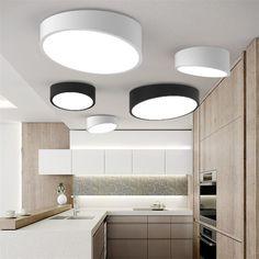 Nouveau Moderne Géométrie Blanc Noir Acrylique Led Plafond Lampe En Métal Encastré Lumière Pour Chambre Salon Luminaire CL174 dans   de   sur AliExpress.com | Alibaba Group