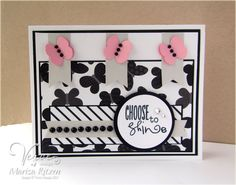 Handmade card by Marisa Ritzen using the Let it Be set from Verve.  #vervestamps