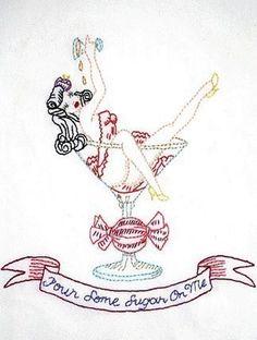 Mad INK (tattoo) Iron on Hand Embroidery Pattern (original design)