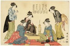 Five Kansei Beauties at a Game of Go