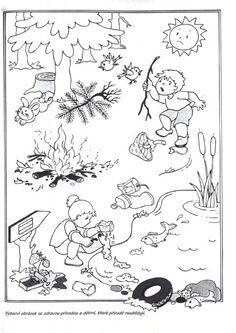 Co nepatří do lesa? Special Education Activities, Earth Day Activities, Preschool Education, Elementary Science, Teaching Kids, Earth Day Coloring Pages, Coloring Pages For Kids, Daily Schedule Kids, Picture Comprehension