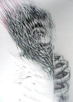 "Artist Judith Mason ""Prometheus"" 2008 Pencil on Paper, 81 X South African Artists, Drawing Techniques, Dark Art, Pencil Drawings, Art Projects, Illustration Art, Magic, Ink, Paper"