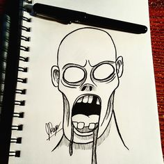 A quick 5 minute sketch of a zombie. Why?… Why not?