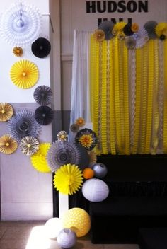Ceremony decor.  Yellow and Gray Wedding. Southern Event Planners, Memphis, TN  Wedding Planners