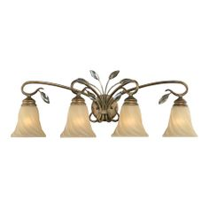 Four Light Gold Vanity | Williams Lighting Galleries